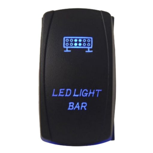 Led bar schakelaar blauw verlicht