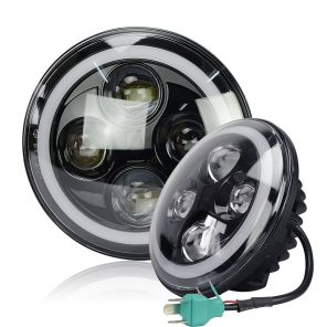 Led koplamp set met Angel Eyes 7 Inch